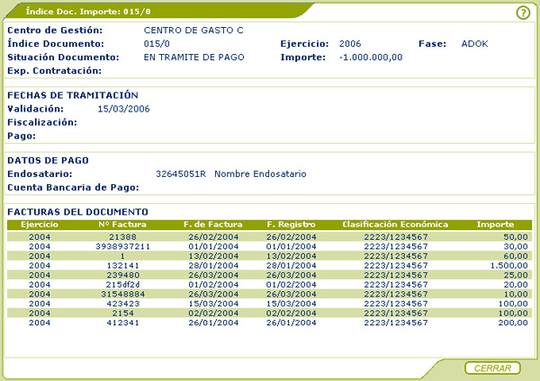 documento privado gestion: